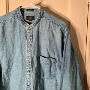 Vintage Shirt Size Large Button Up Denim